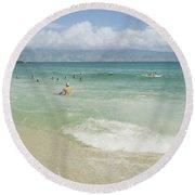 Kapalua - Aia I Laila Ke Aloha - Honokahua Round Beach Towel