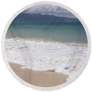 Kapukaulua - Purely Celestial - Baldwin Beach Paia Maui Hawaii Round Beach Towel