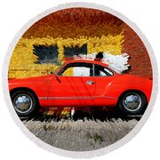 Karmann Ghia Round Beach Towel