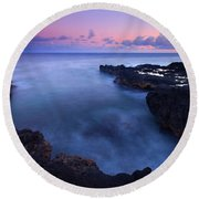 Kauai  Pastel Tides Round Beach Towel