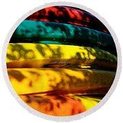 Kayak Colors Round Beach Towel