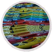 Kayak Row Round Beach Towel