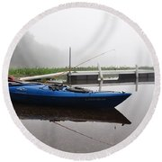 Kayaking Morning Round Beach Towel