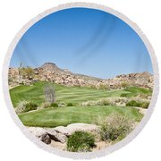 Keep It In The Short Grass Round Beach Towel