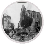 Kenilworth Castle - England - C 1897 Round Beach Towel