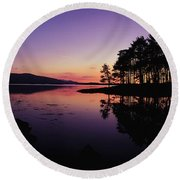 Kenmare Bay, Co Kerry, Ireland Sunset Round Beach Towel