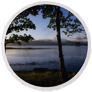 Kenmare Bay, Ring Of Kerry In Bg, Co Round Beach Towel