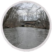 Kennedy Bridge Over French Creek Round Beach Towel