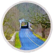 Kennedy's Bridge Over French Creek Round Beach Towel