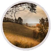 Kentucky Type Hayfields Round Beach Towel