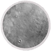 Kepler Crater On The Surface Of Mars Round Beach Towel