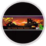 Kid Monsta And The England Riots Round Beach Towel