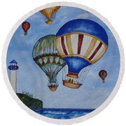 Kid's Art- Balloon Ride Round Beach Towel