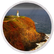Kilauea Lighthouse Round Beach Towel