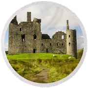 Kilchurn Castle Round Beach Towel