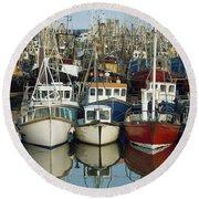 Kilkeel, Co Down, Ireland Rows Of Boats Round Beach Towel