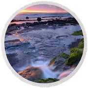 Killala Bay, Co Sligo, Ireland Sunset Round Beach Towel