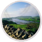 Killybegs, Co Donegal, Ireland Stone Round Beach Towel