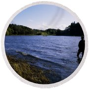 Killykeen Forest Park, Co Cavan Round Beach Towel