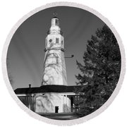 Kimberly Point Lighthouse Round Beach Towel