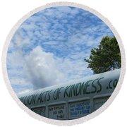 Kindness Bus 7 Round Beach Towel