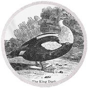 King Duck Round Beach Towel