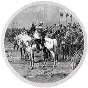 King Gustavus II Of Sweden Round Beach Towel