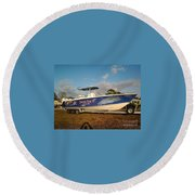 Kingfish Boat Wrap Round Beach Towel
