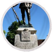 Kings Royal Rifle Corps Memorial In Winchester Round Beach Towel