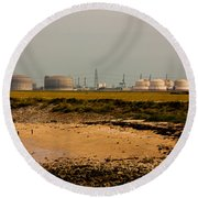 Kingsnorth Power Station Round Beach Towel