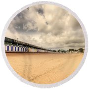 Kinlet Hall At Goodrington Sands Round Beach Towel