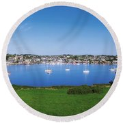 Kinsale, Co Cork, Ireland Boats And Round Beach Towel