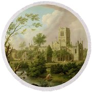 Kirkstall Abbey - Yorkshire Round Beach Towel