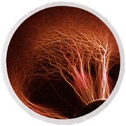 Kirlian Photograph Round Beach Towel
