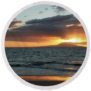 Kiss Of Light Round Beach Towel