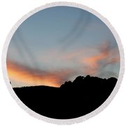 Kissing Camels Sunset Round Beach Towel