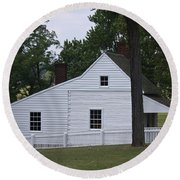 Kitchen And Slave Quarters Appomattox Virginia Round Beach Towel