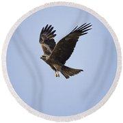 Kite In Flight Round Beach Towel