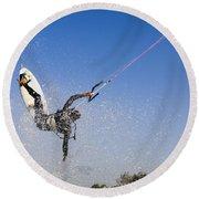 Kitesurfing Round Beach Towel