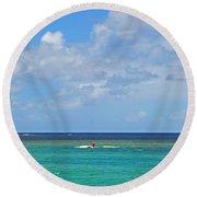 Kitesurfing In Kauai II Round Beach Towel