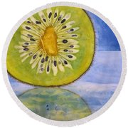 Kiwi Reflection Round Beach Towel