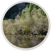 Klamath Pond Round Beach Towel