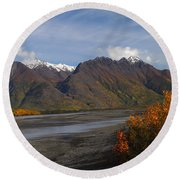 Knik River Round Beach Towel