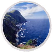 Knockmore Mountain, Clare Island Round Beach Towel