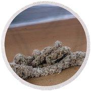 Knots On The Sand Round Beach Towel