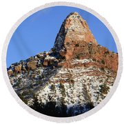 Kolob Canyon Utah Round Beach Towel