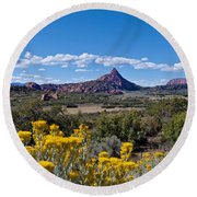 Kolob Terrace Afternoon Round Beach Towel