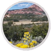 Kolob Terrace Red Buttes Round Beach Towel