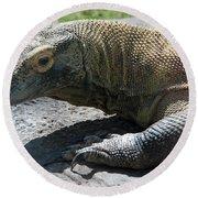 Komodo Dragon Round Beach Towel