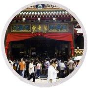 Kwan Im Tong Hood Cho Buddhist Temple In The Bugis Area In Singa Round Beach Towel